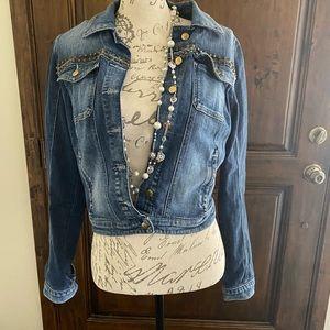Women's Jean Studded Jacket.